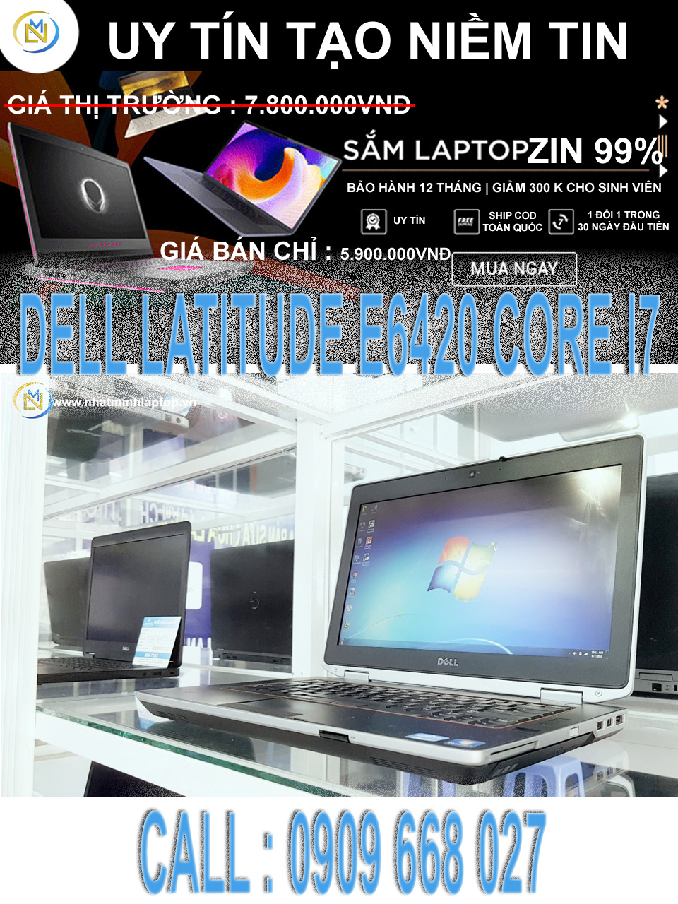 DELL LATITUDE E6420 CORE I7